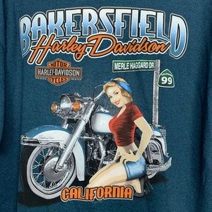 NWT Harley Davidson T-Shirt Large L Bakersfield Ca